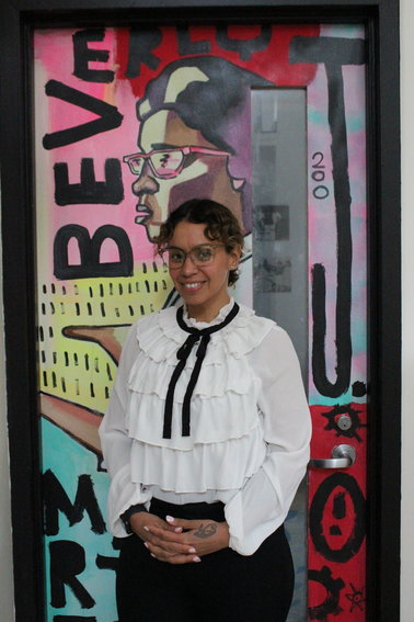 Nydia Boyd will step down as Executive Director of Southside community center later this year. Her work at the community has been inspired by people like her aunt, Beverly J. Martin, who is honored by the mural Boyd stands in front of.