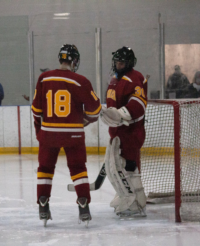 Bryce Mitchell and goaltender William Gephart were key parts of the Little Red's success on the ice.