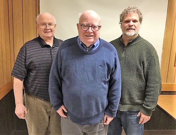 From left to right: Clay Converse, running for Village of Dryden Trustee; Mike Murphy, running to keep his seat as Village of Dryden Mayor; Jason Dickinson, running to keep his seat as Village of Dryden Trustee.