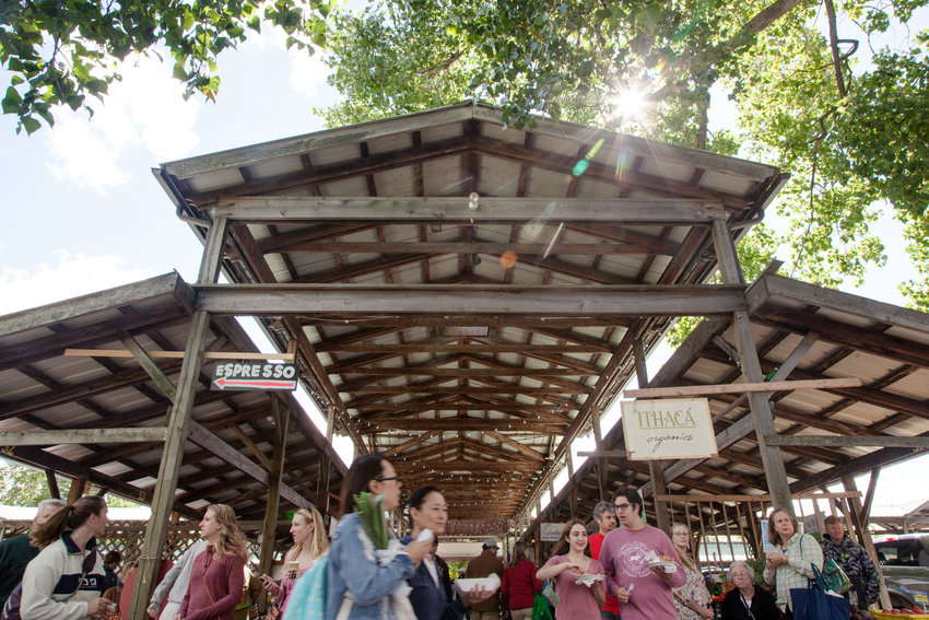 The popular Ithaca Farmer's Market is thinking about the future while making plans for the outdoor pavilion.