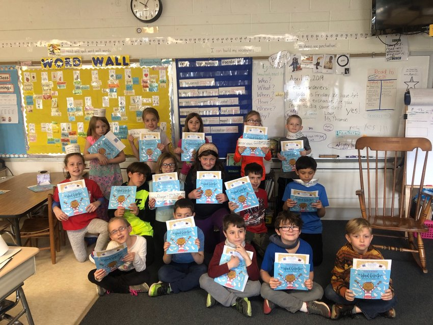 """Susan Thomas' second grade class have all received """"The Word Collector"""" and have already created several projects around it."""