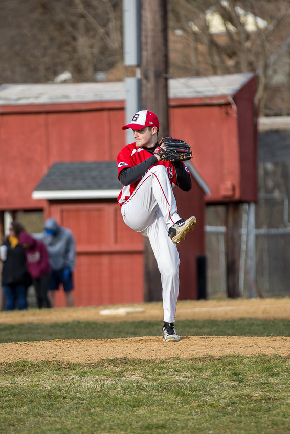 Sam Norman delivers a pitch for Groton