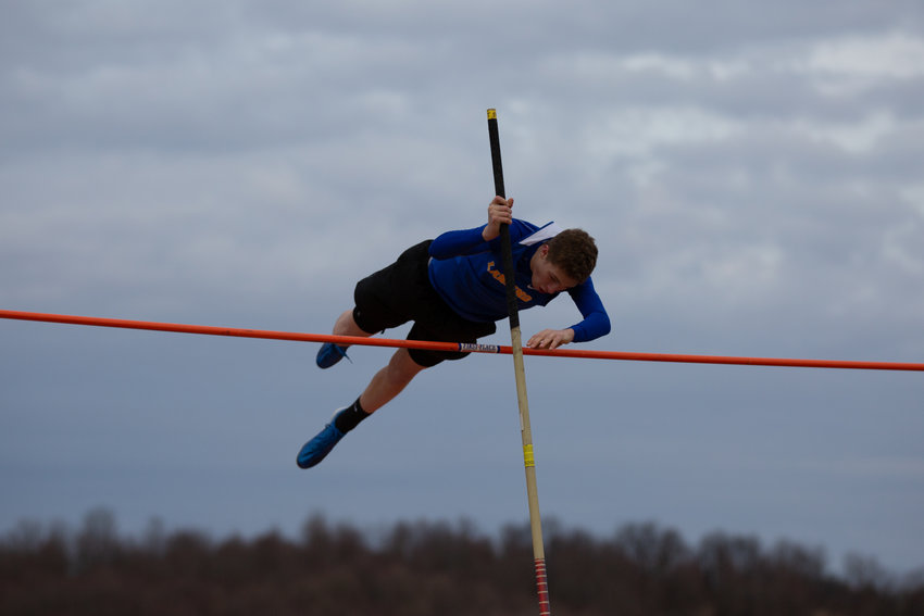 Lansing's Ethan Burt took home the top finish in the pole vault during the Field Festival that was hosted by the Bobcats. The junior cleared 12-08.00 to take the first place finish