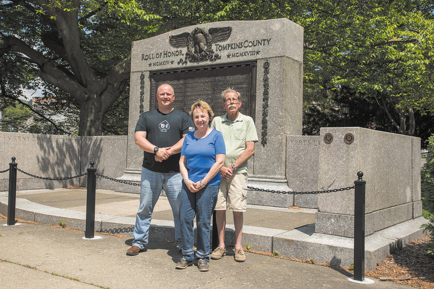 From left to right: Pat Masters, Karen Van Etten, and John White, all local veterans who want to see what the upcoming Veteran's Service Office can help local veterans connect to.