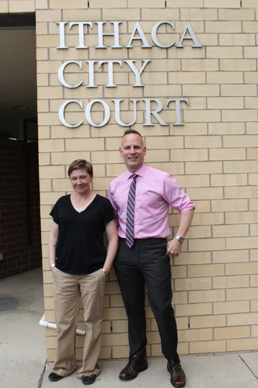Wellness and Recovery Court coordinator Michelle Preshur and Ithaca City Court Judge Scott Miller, along with a team of law enforcemnt, legal, and health professionals, are working together to slow the revolving door of inmates at the jail with mental health issues.