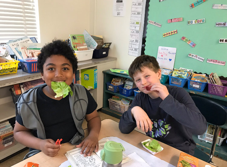 Roy Williams and Joshua Kraak, third graders at Belle Sherman Elementary school.