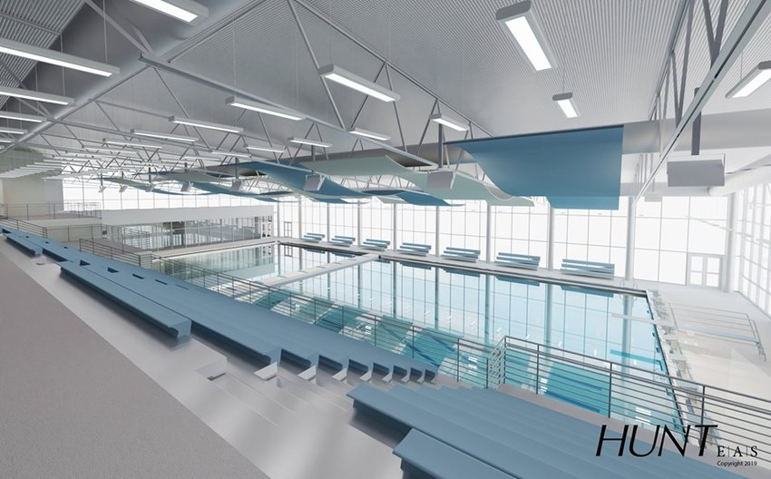 An architect's rendering of what a pool at TCSD could look like.