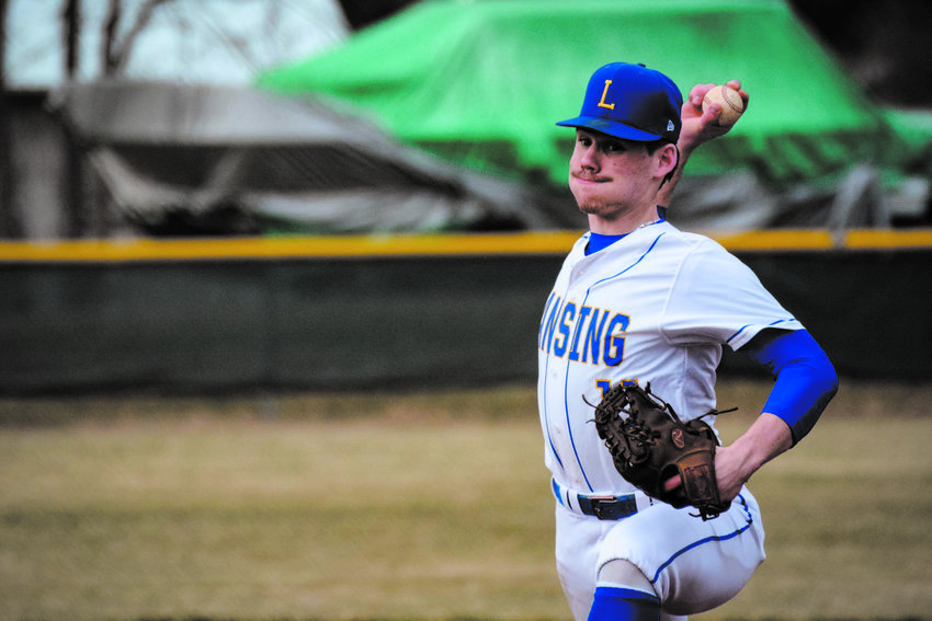 Garrett Bell of Lansing High School (above) plans to attend Ithaca College in the fall semester and continue his love for baseball.