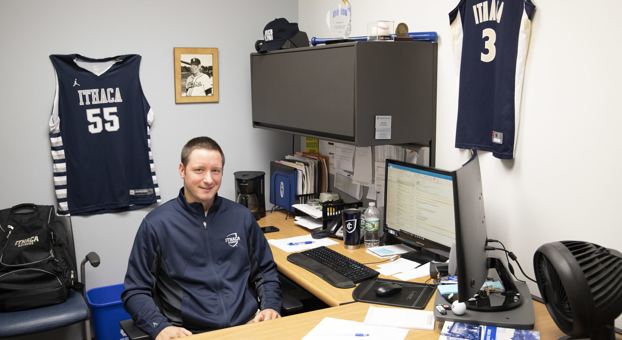 Justin Lutes as been associate athletic director for athletic communications at Ithaca College for the past three years.