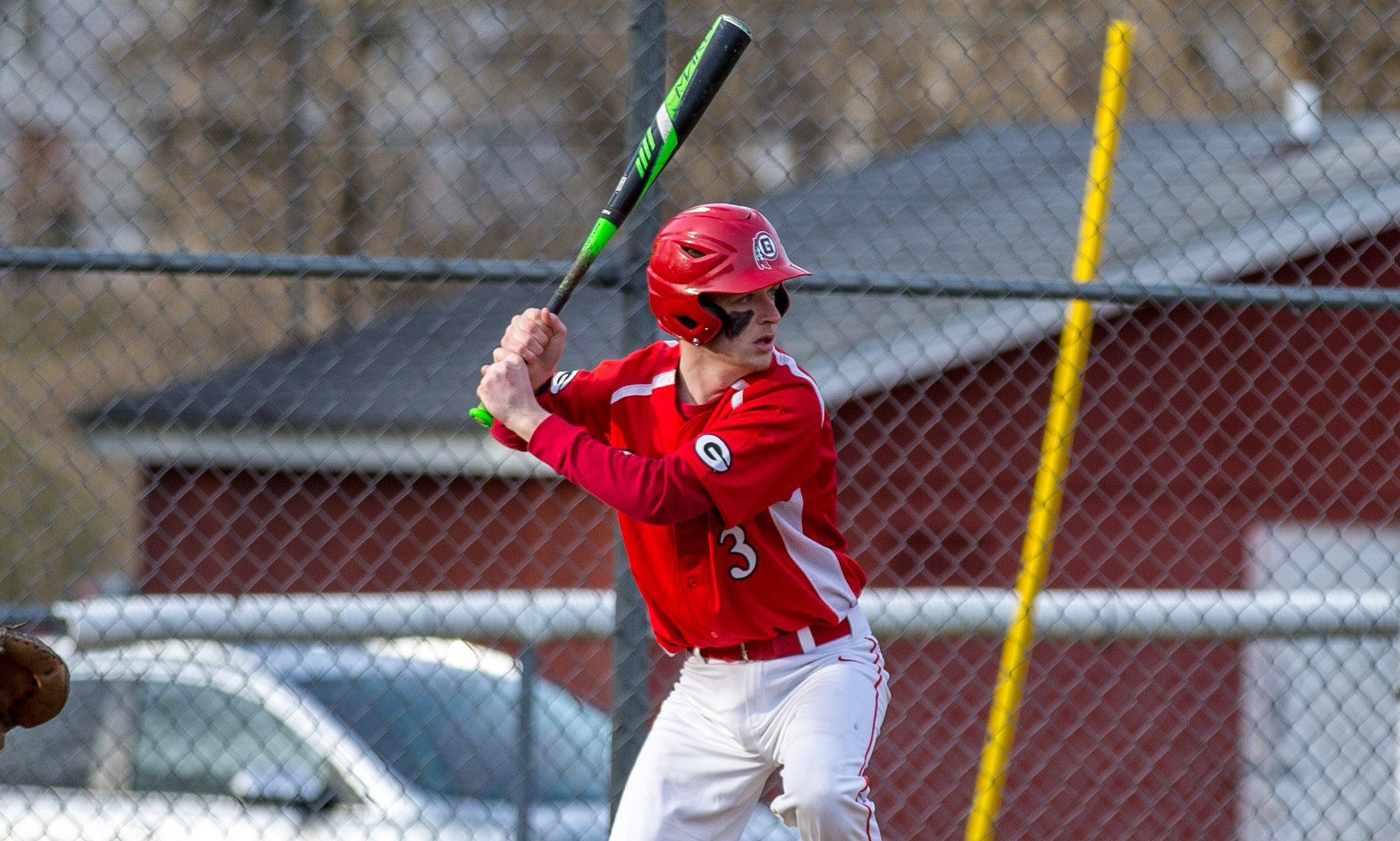 Groton senior Shane Smith swings the bat against McGraw during the 2019 season. Smith was one of five seniors set to return for Groton this year before the season was canceled.