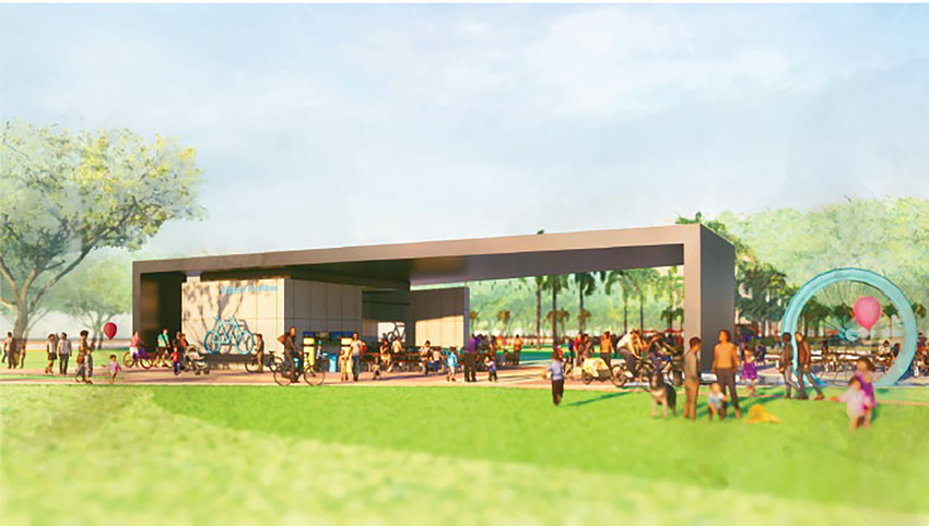 An artist's rendering of the Walton Pavilion, which is planned as part of the Gentry on the Green mixed-use development.