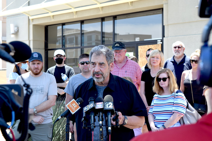 Bill Crawford and several other Old Town Scottsdale business owners called for added law enforcement resources after numerous businesses were vandalized on May 30. (Independent Newsmedia/Melissa Rosequist)