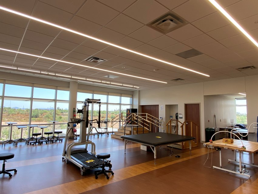 The Banner Rehabilitation Hospital West has a gym for patient exercise and therapy.