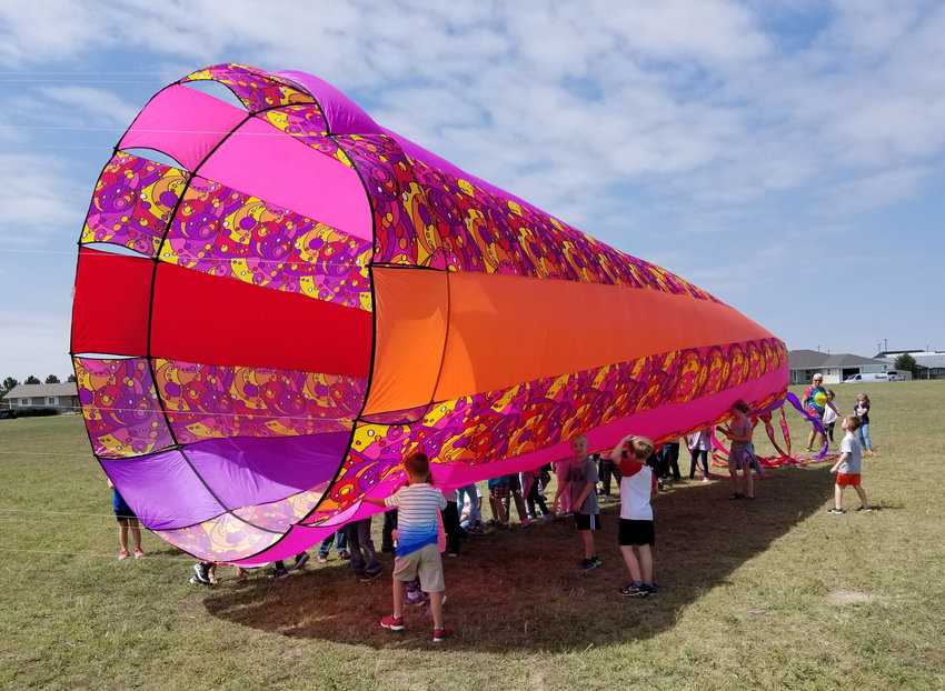 Kites as large as semitrailers and windsocks as large as motor homes will be part of Desert Winds Kite Festival, new to this year's balloon classic. [My Wind Stuff! photo]