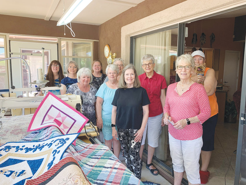 From left are Cathie Harrington, Mary Wandschneider, Mary Roberts, Karla Bonifasi, Sharon Root, Mary Henderson, Linda Pittman, Margaret Simmons, Linda Miller and Darlene Phillips.