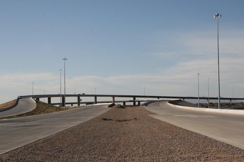 In 2014 at the opening of State Route 24 from Loop 202 to Ellsworth Road in Mesa.