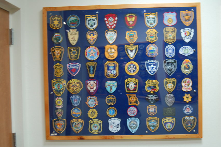 The Sun City Posse has a large collection of law enforcement patches from around the country.