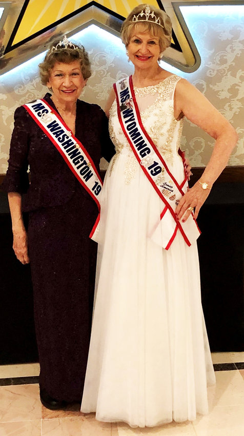 Sun City residents Barbara Snyder, left, and Sharon Word competed at the Ms. Senior America Pageant in Atlantic City.