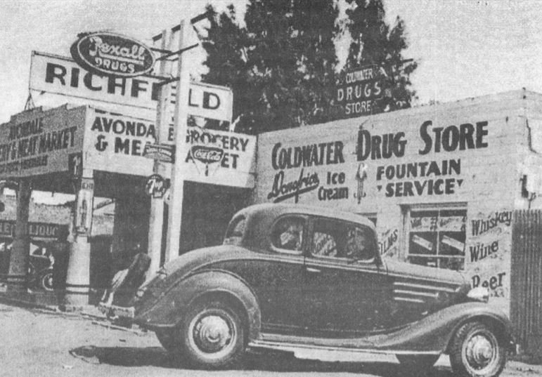 These historical photos show some of the markets and restaurants and the drug store in the region that would become Avondale and Goodyear. [Submitted photos]