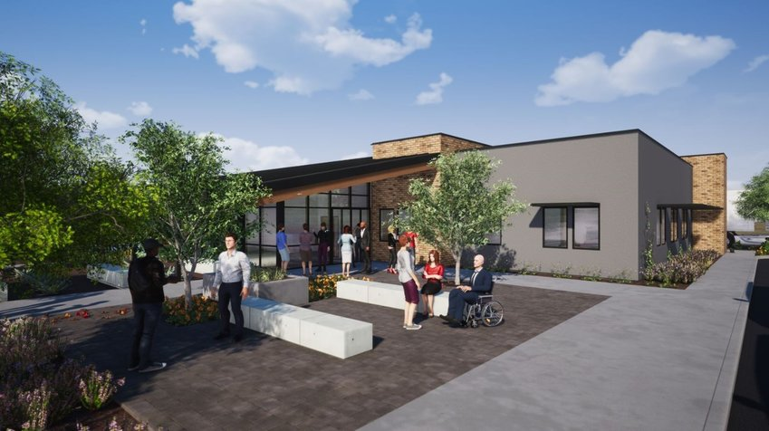 A rendering of the Foundation for Senior Living's future Adult Day Health Center in Glendale.