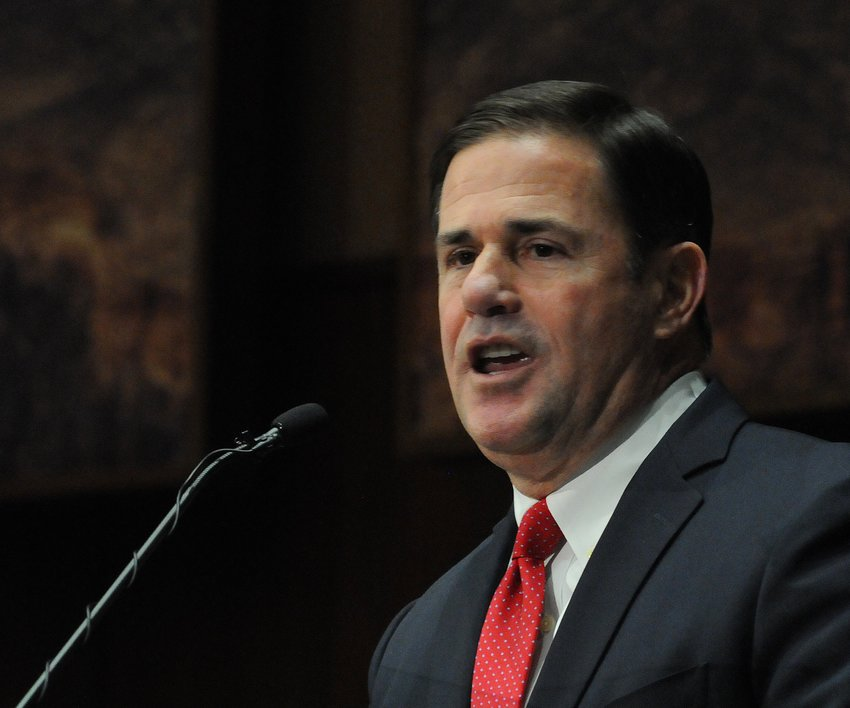 Gov. Doug Ducey addresses the Legislature on Monday, Jan. 13, 2020.