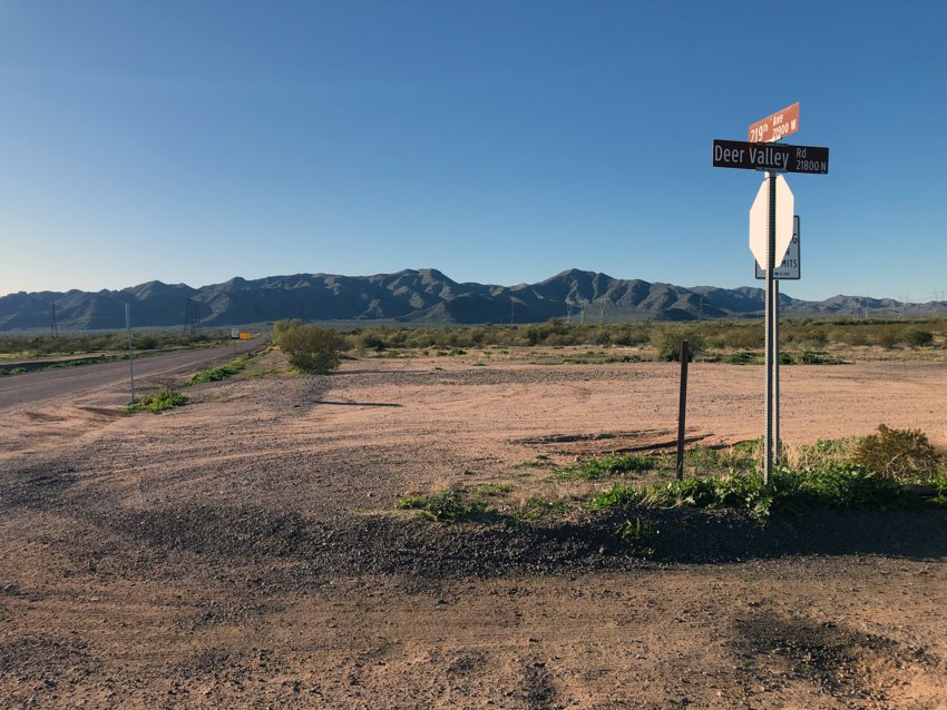The Mesquite Mountain Ranch home development would have views of the north side of the White Tank Mountains. On Jan. 19 the Surprise City Council will hear the preliminary plat and planned-unit development overlay for Rancho Vista, a development surrounded by Mesquite Mountain on the south and west.
