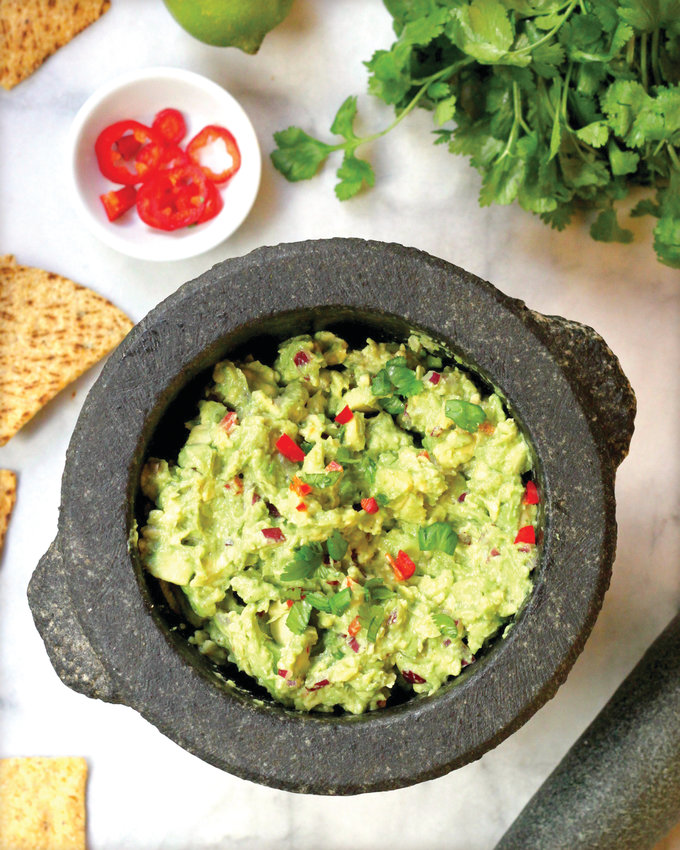 Guacamole with jalapenos and cilantro. Photo by Lynda Balslev for TasteFood.