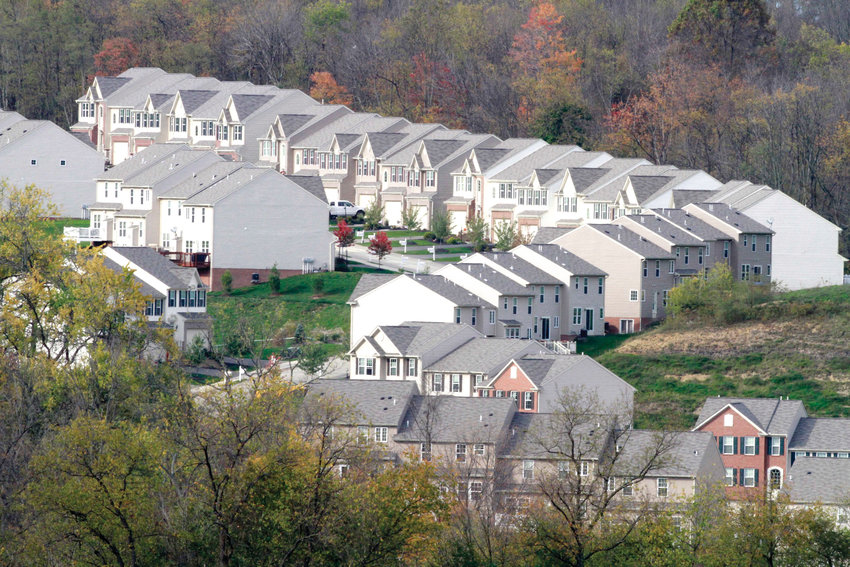 This Oct. 18, 2011 photo shows a new home development in Canonsburg, Pennsylvania.