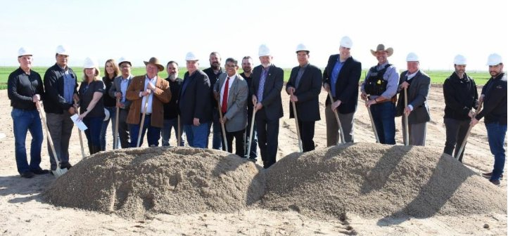 Pinal County officials at a Feb. 19 groundbreaking for the 50,000-square-foot complex in San Tan Valley.