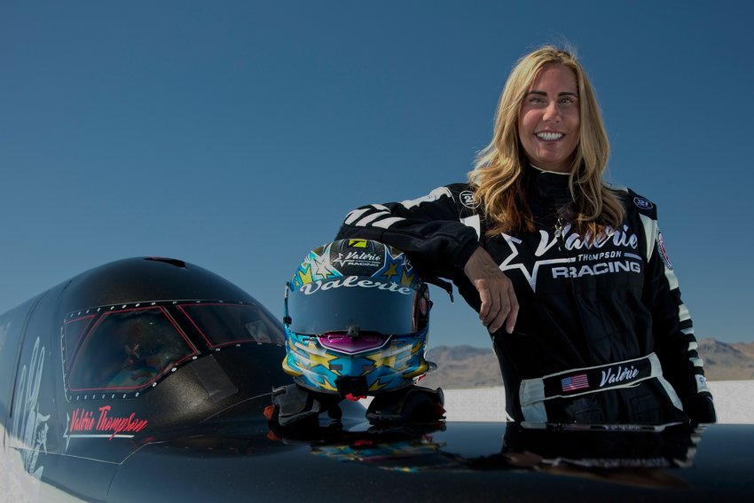 "Called the ""Queen of Speed,"" Paradise Valley resident, Valerie Thompson, will attempt new speed records at two premier land speed racing events in Australia, in March, with a goal to go 417 mph., break speed and gender barriers."