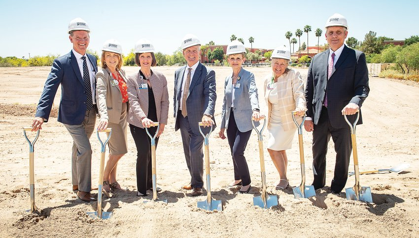 Health officials break ground on the Banner Rehabilitation Hospital-West during an April 25, 2019 ceremony in Peoria. The 56-bed facility, located at 12740 N. Plaza Del Rio Blvd., is slated to open this summer.
