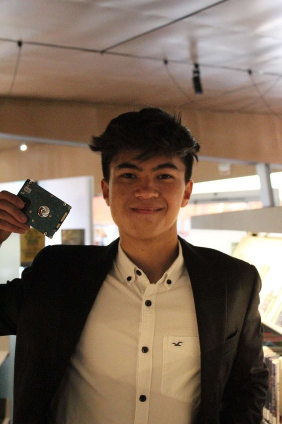 Ethan Wilk, 17, a BASIS Scottsdale student helps develop a blockchain-based technology to learn about the living conditions of endangered fish in the area.