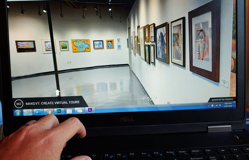 During social isolation, residents can take a virtual tour of current exhibits at the Arts HQ Gallery in Surprise.