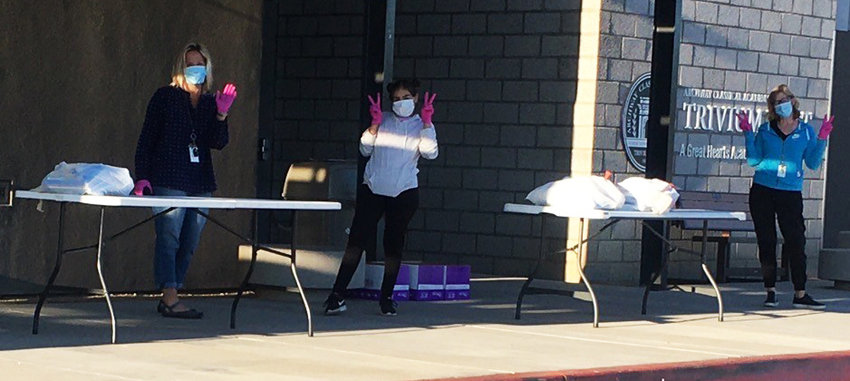 Volunteers have been helping pack up students' content at Trivium Preparatory Academy in Goodyear.