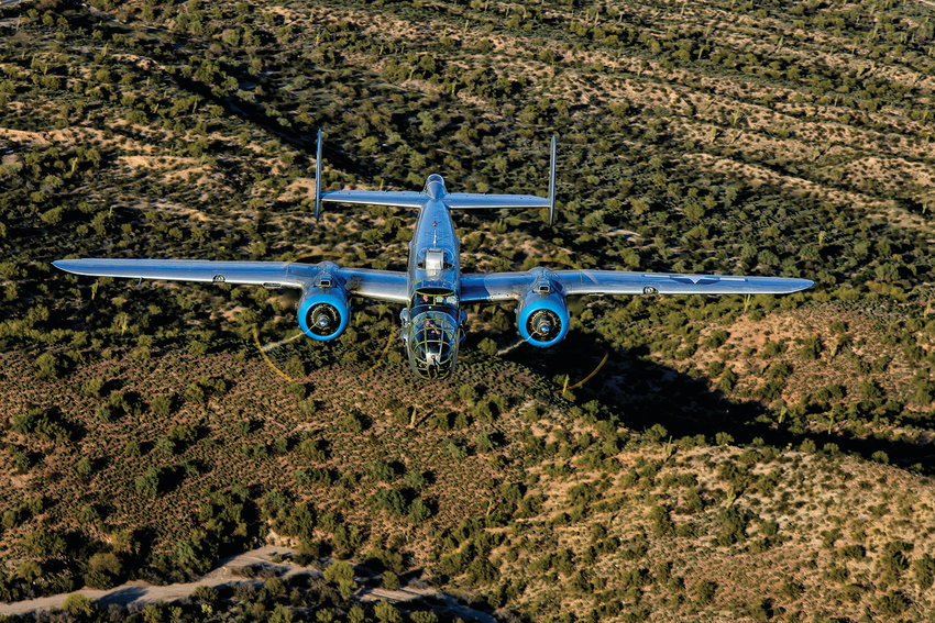 The Commemorative Air Force in Mesa is the home to several large World War II planes like this B-25. Photo from Commemorative Air Force website at azcaf.org.