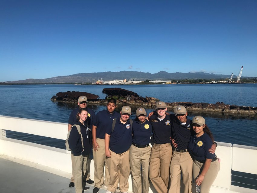 Members of the Navy Junior Reserve Officer Training Program at Apache Junction High School visited the USS Utah at Pearl Harbor in Hawaii.
