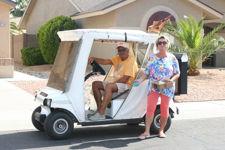 John and Suzanne Hendershot have been leaving behind kindness rocks through the Sun City West community.