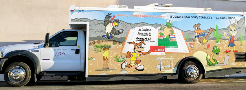 The Roadrunner Bookmobile will appear at two spots in Buckeye on June 25.