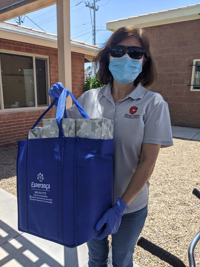 Esperança's Phoenix staff deliver care packages of household necessities to seniors and families throughout the Valley.