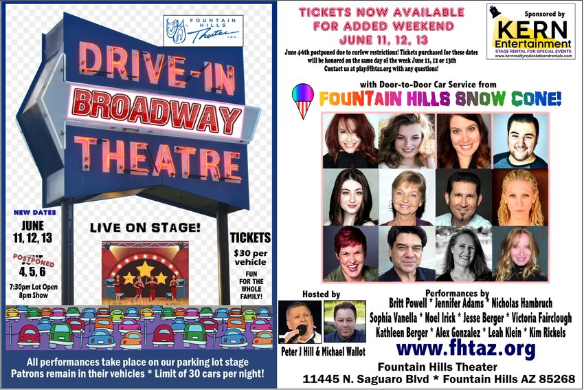 Fountain Hills Theater moves Drive-In performance due to curfew.