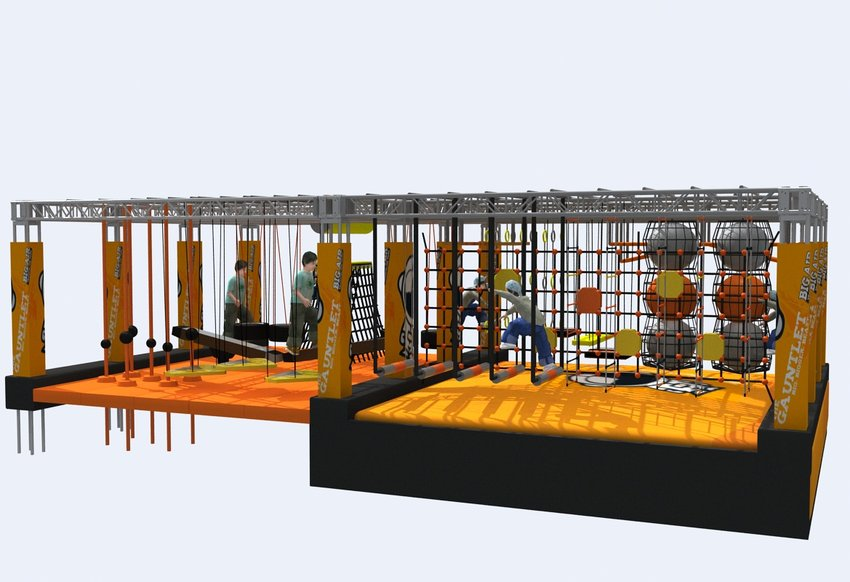 A graphic showing a portion of the Big Air Trampoline Park.