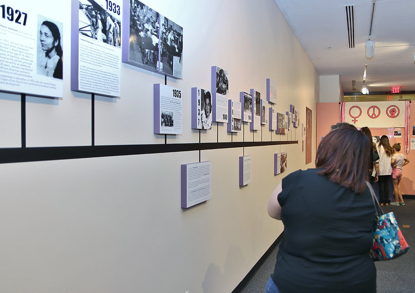Arizona Historical Society's current exhibitions include Still Marching: From Suffrage to #MeToo that examines women's protest movements during the past century.
