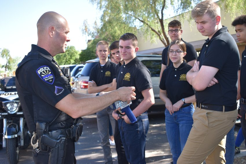Students participate in Goodyear Police Department's 2019 Teen Police Academy.
