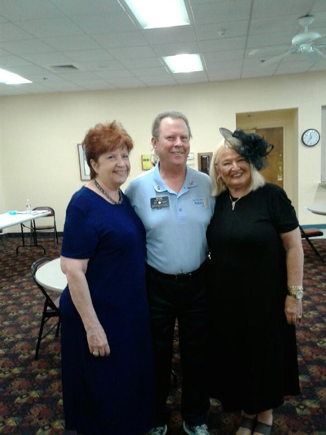 Above are Christine Daughters, president-elect 2021-2022, Robert Pratt, outgoing president, and Johanna Burton-Fuller, incoming president. [Submitted photo]