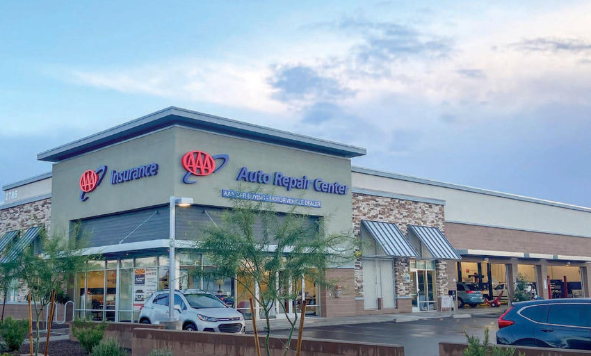 Representative image provided by Marcus & Millichap shows the AAA property at 15578 W. McDowell Road in Goodyear.