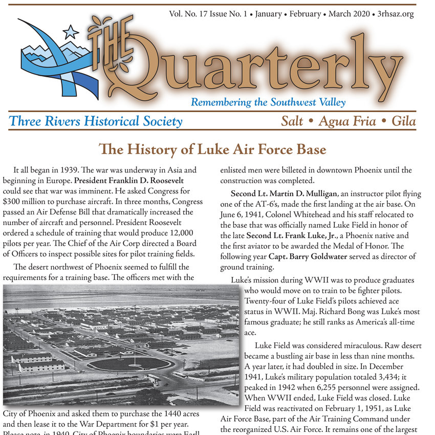Litchfield Park veterans interested in sharing their stories with the Three Rivers Historical Society have until Tuesday, Sept. 15 to submit them for publication in fall edition of the organization's publication, The Quarterly.
