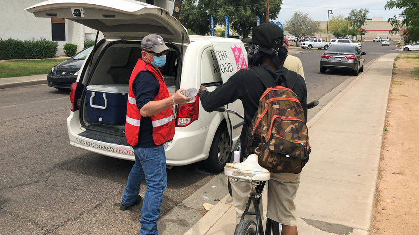 A mobile hydration unit will also be dispatched from 11 a.m. to 5 p.m. each day to targeted portions of the Valley that have been identified as homeless encampments and areas with high homeless populations.