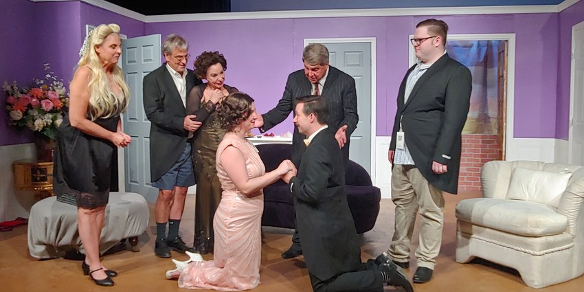 """The cast of Stage Left Productions' """"Comedy of Tenors."""" This SLP production received five nominations from the ariZoni Theater Awards of Excellence. Cody Dull won the Best Director in a Play award for this play on Oct. 5. Stage Left will resume with a series of one-person plays in October."""