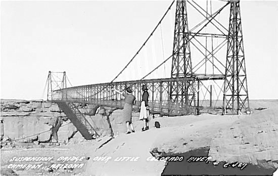 The first bridge over the Little Colorado River was built in 1912. [Courtesy of ADOT]