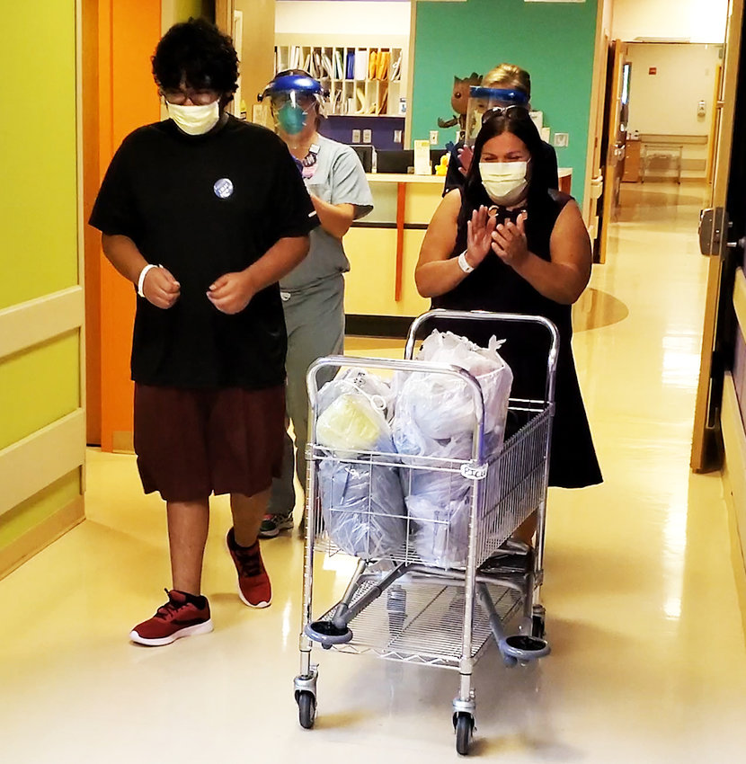 Banner Thunderbird: Brian Aguayo, 17, from the Yuma area, was transferred to Banner Children's at Thunderbird to be treated for COVID-19 and symptoms consistent with MIS-C. He was on a ventilator for five days.